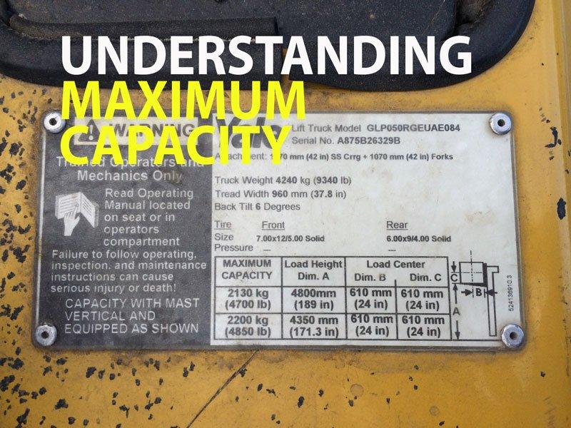 Understanding forklift maximum capacity